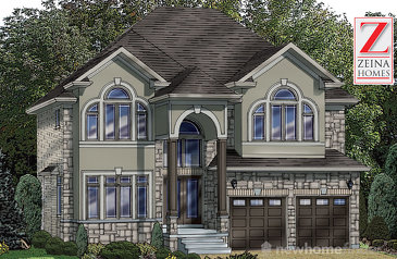 The Zenith new home model plan at the Vienna Orchards by Zeina Homes in Hamilton
