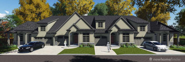 The Aberdeen & Paisley new home model plan at the Hunters Pointe by Lucchetta Homes in Welland