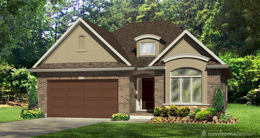 The Dunbar new home model plan at the Hunters Pointe by Lucchetta Homes in Welland