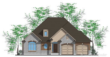 The Kingston new home model plan at the Ryan's Grove by Lucchetta Homes in Pelham