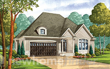 The Chateau Margaux new home model plan at the Four Mile Creek by Blythwood Homes in St. Davids