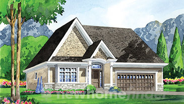 The New Haven new home model plan at the Ridgeway by the Lake by Blythwood Homes in Crystal Beach