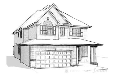 The Beech new home model plan at the Merritt Meadows by Rinaldi Homes in Thorold