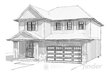 The Manchester new home model plan at the Merritt Meadows by Rinaldi Homes in Thorold