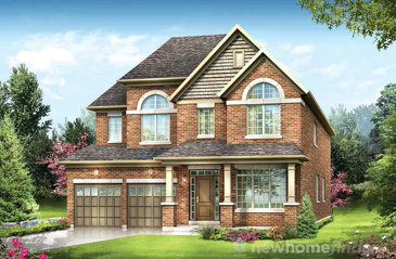 The Rowan new home model plan at the Cachet Orangeville by Cachet Estate Homes in Orangeville