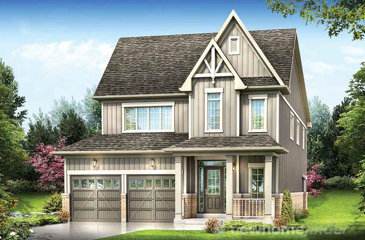 The Mara new home model plan at the Cachet Orangeville by Cachet Estate Homes in Orangeville