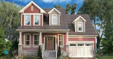 The Beachside new home model plan at the South Coast Village by Marz Homes in Crystal Beach