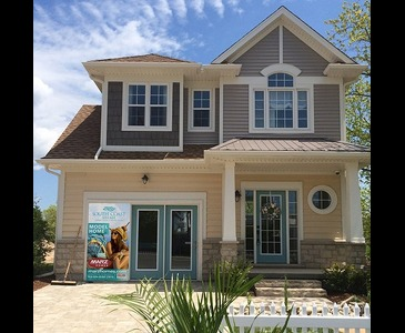 The Cove new home model plan at the South Coast Village by Marz Homes in Crystal Beach