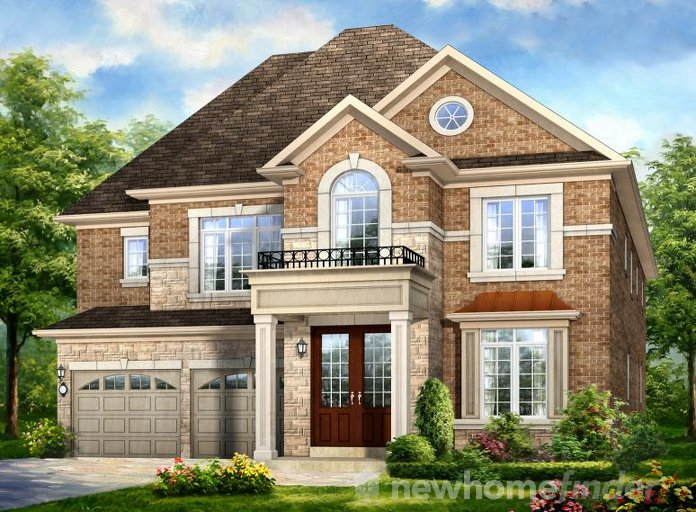 Treeline floor plan at Mount Pleasant (RH) by Rosehaven Homes in Brampton, Ontario