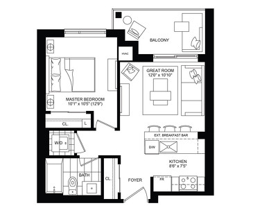 The Allure new home model plan at the Affinity Condominiums by Rosehaven Homes in Burlington