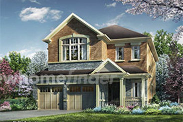 The Aylen new home model plan at the Riverview Heights by Ashley Oaks Homes in Brampton
