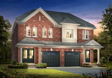 The Meadowvale 2 new home model plan at the Spring Valley Village by Muirland in Brampton