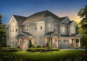 The Meadowvale 6 new home model plan at the Spring Valley Village by Muirland in Brampton