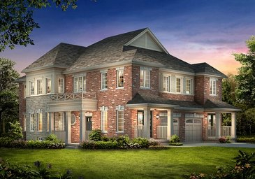 The Meadowvale 9 new home model plan at the Spring Valley Village by Muirland in Brampton