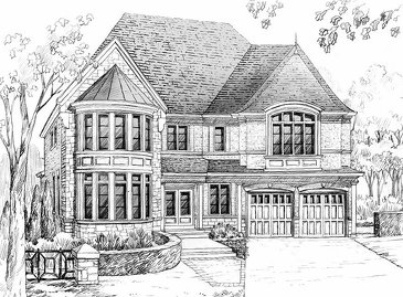 The Millenium Star new home model plan at the King's Manor Estates by Bremont Homes in Brampton