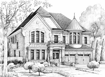 The Regent new home model plan at the King's Manor Estates by Bremont Homes in Brampton