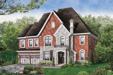 The Exeter new home model plan at the Vales of Humber (Mk) by Mosaik Homes in Brampton