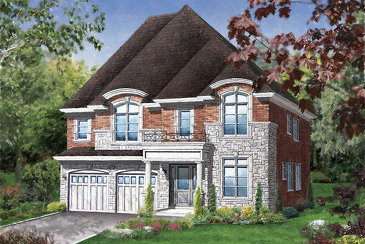 The Amberly new home model plan at the Vales of Humber (Mk) by Mosaik Homes in Brampton