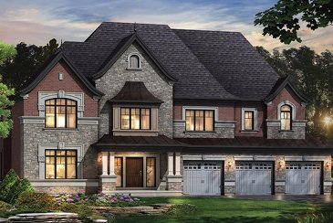 The Hyacinth new home model plan at the Kleinburg Crown Estates by Mosaik Homes in Kleinburg