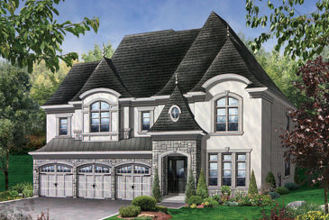 The Abbeville new home model plan at the Kleinburg Crown Estates by Mosaik Homes in Kleinburg