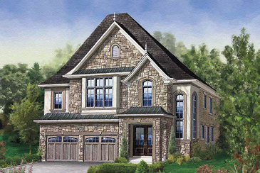 The Grenoble new home model plan at the Thornbury Woods by Mosaik Homes in Maple