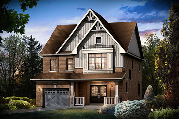 The Berkshire new home model plan at the Sharon Village (Mk) by Mosaik Homes in East Gwillimbury