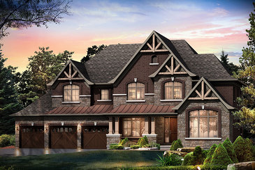 The Nottingham new home model plan at the Sharon Village (Mk) by Mosaik Homes in East Gwillimbury