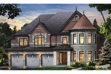 The Magnolia new home model plan at the Copperwood in Kleinburg by Mosaik Homes in Kleinburg