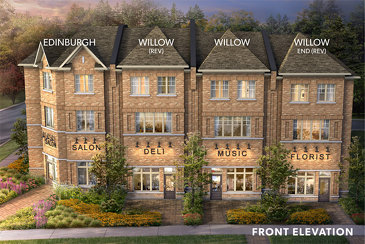 The Edinburg new home model plan at the Hometown by Marycroft Homes in Guelph