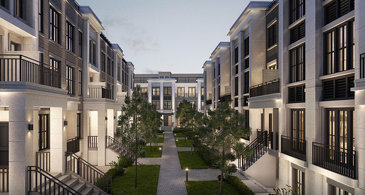 The Terrace Flats new home model plan at the The Reserve by Queenscorp in Mineola