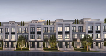 The Executive Townhomes new home model plan at the The Reserve by Queenscorp in Mineola