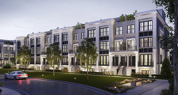 The Urban Towns new home model plan at the The Reserve by Queenscorp in Mineola
