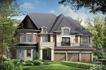 The Williams new home model plan at the Kleinburg Crown Estates (Ca) by Caliber Homes in Kleinburg