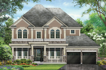 The Philip new home model plan at the Kleinburg Crown Estates (Ca) by Caliber Homes in Kleinburg