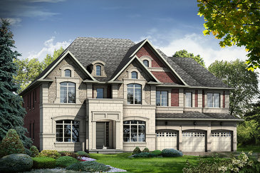 The Emerald new home model plan at the Kleinburg Crown Estates by Caliber Homes in Kleinburg