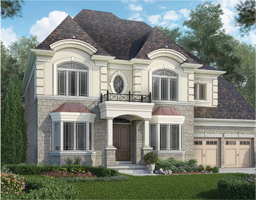 The Sienna new home model plan at the Cleave View Estate by CountryWide Homes in Brampton
