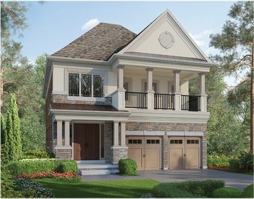 The Halequin new home model plan at the Cleave View Estate by CountryWide Homes in Brampton