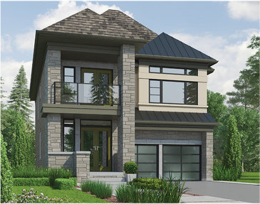 The Reseda new home model plan at the Cleave View Estate by CountryWide Homes in Brampton