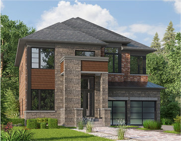 The Shamrock new home model plan at the Cleave View Estate by CountryWide Homes in Brampton