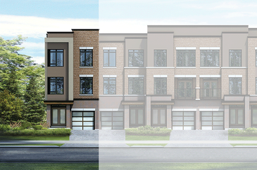 The TH18-04 new home model plan at the Chelsea by CountryWide Homes in Vaughan
