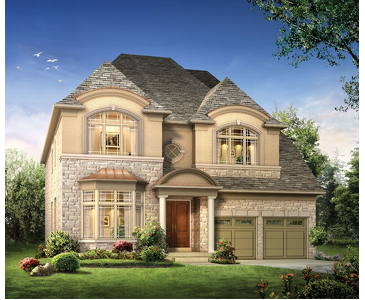 The Carmichael new home model plan at the Kleinburg Hills by CountryWide Homes in Kleinburg