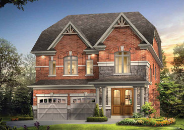 The Hampton new home model plan at the Kleinburg Glen by Gold Park Homes in Kleinburg