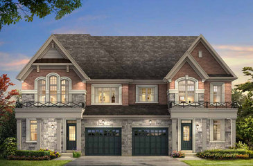 The Britten new home model plan at the Encore2 by Gold Park Homes in Brampton