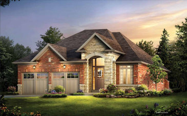 The Elmwood new home model plan at the Riverwalk by Gold Park Homes in Angus