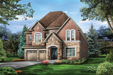 The Emerald new home model plan at the The Estates of Emerald Woods by Regal Crest Homes in Brampton