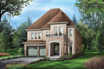 The Swan Valley new home model plan at the Vales of the Humber Estates by Regal Crest Homes in Brampton
