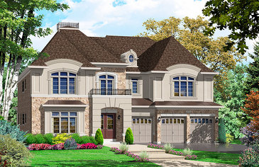 The Stratford new home model plan at the Riverwalk (HH) by Highcastle Homes in Castlemore