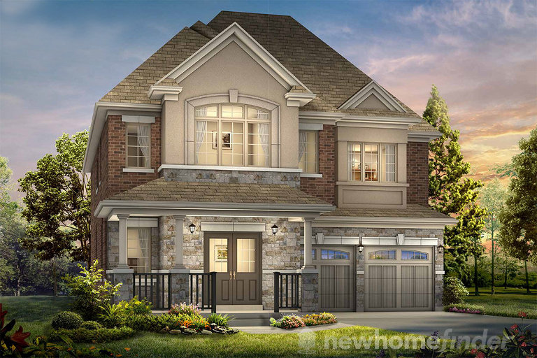 Redwood floor plan at Alloa Greens by Flato Developments in Brampton, Ontario
