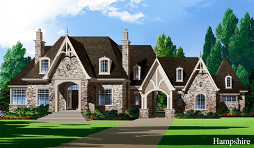 The Hampshire new home model plan at the Stellar Estates by Stellar Homes in Caledon
