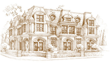 The Chaumont new home model plan at the Mont Palais by Hush Homes in Mississauga